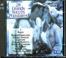 28 GRANDS SUCCES POPULAIRES - VARIETE FRANCAISE - 2 CD COMPILATION [358]