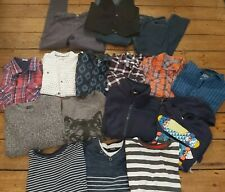 BUNDLE BOYS CLOTHES AGE 10-12 SHIRTS TOPS JEANS HOODIE W'COAT JUMPER 16 ITEMS!