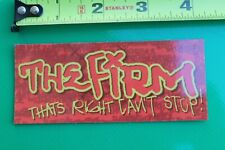 The FIRM Skateboards Can't Be Stopped Graffiti Z9 Vintage Skateboarding STICKER