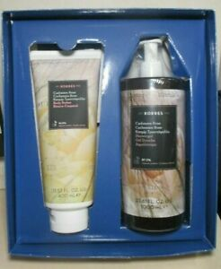 KORRES AN ESCAPE TO GREECE CASHMERE ROSE BODY BUTTER & SHOWERGEL GIFT SET BOXED