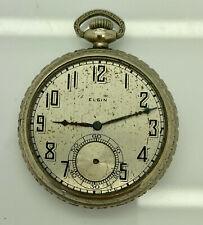 Face Pocket Watch; Grade 303; Model 3 1920's Elgin 14K Rolled Gold Plate Open