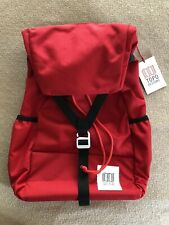Topo Designs Y-Pack Backpack in Red, New with Tags, MSRP $79