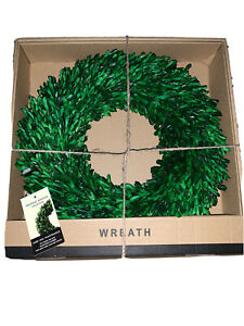 "16"" Round Preserved Boxwood Wreath Farmhouse Decor Indoor Use"