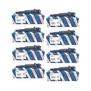 8 OEM BOSCH Ignition Coil Kit Set w/ Spark Plug Connector For BMW 5 6 7 x5 x6