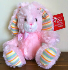 RUSS Berrie Pale Pink Bunny Rabbit Soft Plush Easter Gift/Toy Sml Called Bugsy