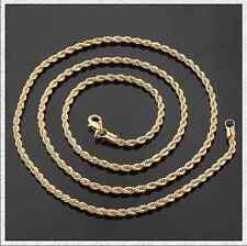 Men's 14k Gold link chain rope Necklace jewelry