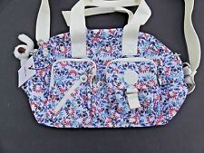 "Kipling Defea satchel purse tote shoulder bag ""Palm Spring Night White"" NWT"
