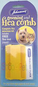 FLEA COMB DOG & CATS  + FLEA TEST PAPER, JOHNSONS COMPLETE FLEA DETECTION KIT