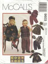 Toddler Dress Vest Pull on Pants & Hats McCall's 9603 Sizes 2-4 New Uncut Unisex