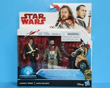 STAR WARS THE LAST JEDI Force Link CHIRRUT IMWE & BAZE 2 Pack 3.75 Inch - MIB