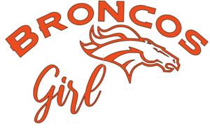 Denver Broncos Girl NFL Football Car/Laptop/Cup Sticker Decal