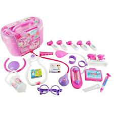 Kids Pretend Play Medical Doctor Nurse Kit with Electronic Stethoscope Toy Set A