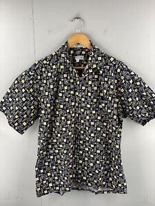 Pierre Cardin Men's Vintage Short Sleeve Casual Shirt Size M Black