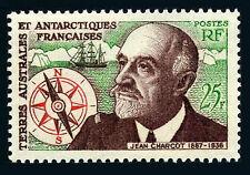 FSAT TAAF 21, MNH. Commander Jean Charcot. Antarctic explorer.Ship,Compass, 1961