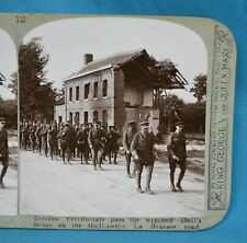 WW1 Stereoview Photo London Territorials Wrecked House La Brassee Road Realistic