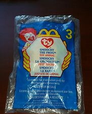 Mc Donalds Happy Meal Toy #3 Ty SMOOCHY THE FROG - NIP