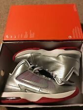 new NIKE Air MAX Hyperfly MATELLIC.SILVER.RED shoes 407535-005 U.S Mens 9.5 $135
