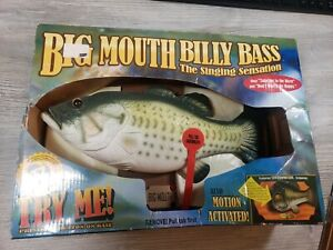 Big Mouth Billy Bass The Singing Sensation Motion Activated 1998 New in BOX