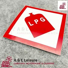 LPG Gas Locker Box WARNING Sticker Caravan LPG Sticker Motorhome, Camper - 34539