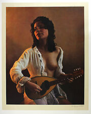 "REZA SAMIMI ""Girl with MANDOLIN"" retro nude LE SIGNED! SIZE:82cm x 65cm NEW RARE"