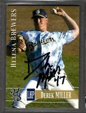 2005 #47 Derek Miller Helena Brewers Baseball Card Signed Autograph (D63)