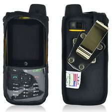 Turtleback Sonim XP6 Nylon Fitted Black Phone Case with Rotating Metal Belt Clip