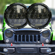 Pair 7Inch Round 150W DRL CREE LED Headlights Hi/Lo 97-17 JEEP Wrangler JK TJ LJ