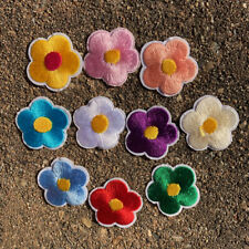 10pcs Flower Embroidered Patch Cloth Iron On Applique craft sewing #1554