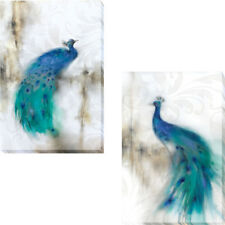 Jewel Plumes I and II by JP Prior 2-pc Gallery-Wrapped Canvas Giclee Art Set