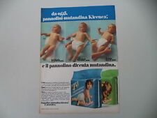 advertising Pubblicità 1973 PANNOLINI KLEENEX