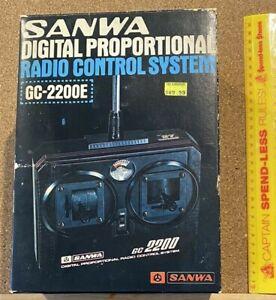 VINTAGE SANWA GC-2200E DIGITAL PROPORTIONAL RADIO-CONTROL SYSTEM MIB NEVER USED!