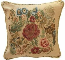 Tache Tapestry Floral Country Rustic Vintage Morning Meadow Pillow Cushion Cover