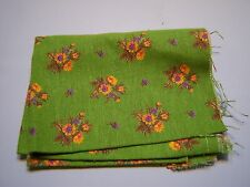 Vintage Floral Remnant Sewing Arts & Crafts Fabric