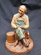 "Tom Clark Gnome ""Uncle Whit"" Whittling Wood Retired Edition 22 1985 Coa Included"