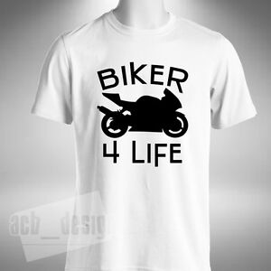 Biker 4 Life Mens T-Shirt Superbike Motorbike Bikes Road Bike Biker