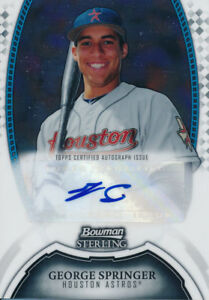 George Springer Astros 2011 Bowman Sterling Auto Autograph Signed Rookie Card rC
