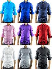 Unifarben-Maschinenwäsche Klassische Herrenhemden mit Krempelärmel-Ärmelart auf Slim Fit