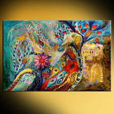The Hills of Jaffo: contemporary judaica art print by Elena Kotliarker