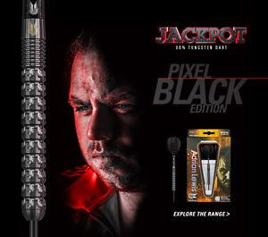 Adrian Jackpot Lewis Target Black Pixel Tungsten Darts Stems Ghost Flights