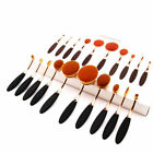 10Pcs/Set Professional Makeup Brushes Oval Cream Puff Toothbrush Pinsel Tools