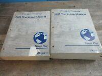 2001 Town Car Workshop Manuals Volume 1 and 2 Vol. Vol 1 & 2 Manual