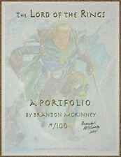 Lord Of The Rings ~ A Portfolio ~ Brandon McKinney ~ 2001 ~ 19/100 ~ Very Rare!