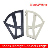 Kunststoffscharniere Schuhschrank-Kippbeschlag für Schuhablage, Kunststoff weiß