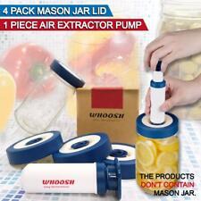 4 Pack Fermentation Lids Valve for Wide-Mouth Mason Jar Easy Twist Off For Food