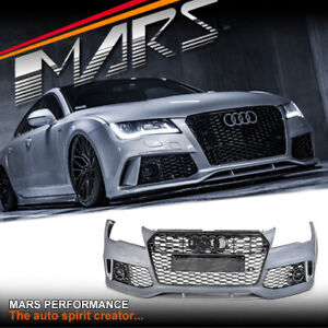 RS7 Look Bumper Bar & Honeycomb Grille Grill for AUDI A7 S7 4G 2011-2014 Bodykit