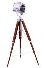 Designer Chrome Floor Lamp Tripod Spotlight Floor Lamp Search Light &Tripod
