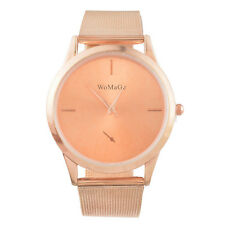 2017 New HOT Womens Fashion womage Simple Mesh Band Quartz Wrist Watch GW