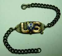 WW2 AAF Sterling / Enameled ID Bracelet - Air Corps