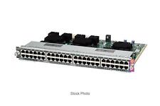 New Cisco Catalyst Ws-X4648-Rj45V-E 48-Port Gigabit Plus Rj45 PoE Switch Module