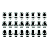 24 Chrome 12x1.5 Lug Nuts for Toyota Factory Aluminum Wheels - Mag Seat